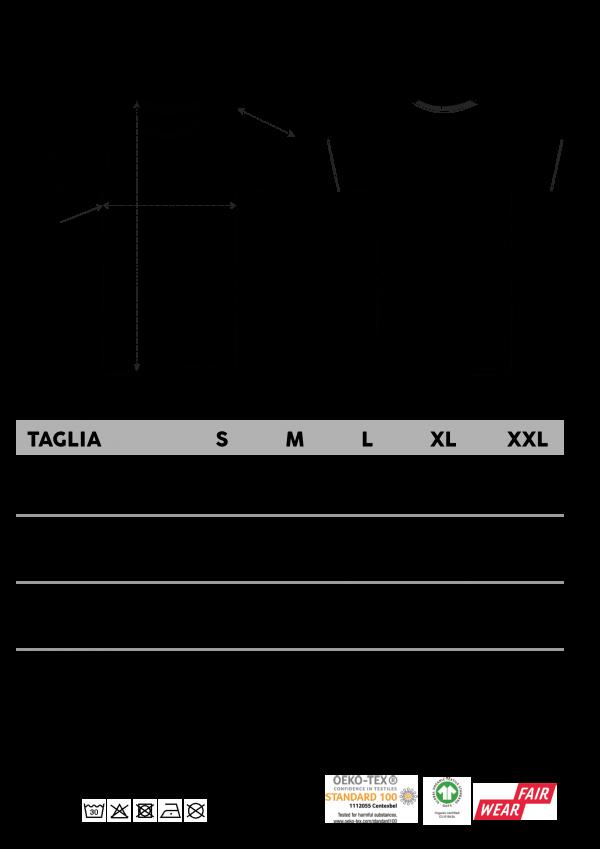 Men's T-Shirts & Polo Shirts Size Chart